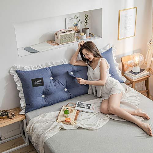 El cojín de algodón lavado de cabecera está diseñado ergonómicamente para aliviar la fatiga de la columna vertebral, apto para todo tipo de personas sedentarias, 4.200 x 55 x 15 cm