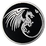 Dragon Symbols of Power and Might Patch Embroidered Applique Iron On Sew On Emblem
