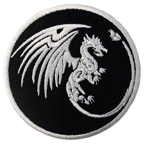 ZEGIN Aufnäher, Bestickt, Design: Drachen Symbole, Macht und Macht, zum Aufbügeln oder Aufnähen