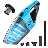 Handheld Vacuum Cordless, 7KPA Hand Vacuum Cleaner Rechargeable Portable with Stainless Steel Filter Wet Dry Lightweight Quick Charge Mini Hand Vac Car Vacuum for Pet Hair