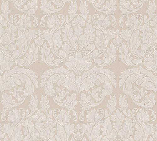 Metropolis by Michalsky Living Vliestapete Soho Tapete neo barock 10,05 m x 0,53 m beige metallic Made in Germany 303963 30396-3