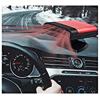12v Portable Car Heating Heater, Fan Window Defroster Demister, Golf Cart Heater, Camping Heater Fan That Plugs Into Cigarette Lighter (Red)