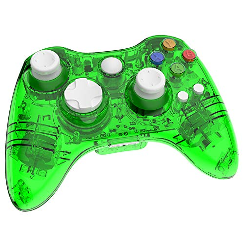 Wireless for Xbox 360 Controller Console Double Motor Vibration Wireless Gamepad Gaming Joypad (Green)