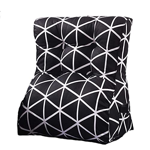 LICHUAN Cojín de cuña para respaldo de espalda, cojín triangular, cojín de respaldo para sofá, cama, oficina, silla, cojín de reposo de cama (color: B, tamaño: 55 x 30 x 60 cm)