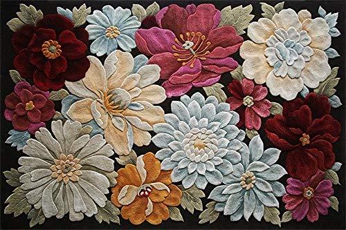 3D Flowers Printing Hallway Carpets Creative Floor mat Bedroom Living Room Tea Table Area Rugs Anti-Skid Tapete Kitchen Bathroom-1_40x60cm