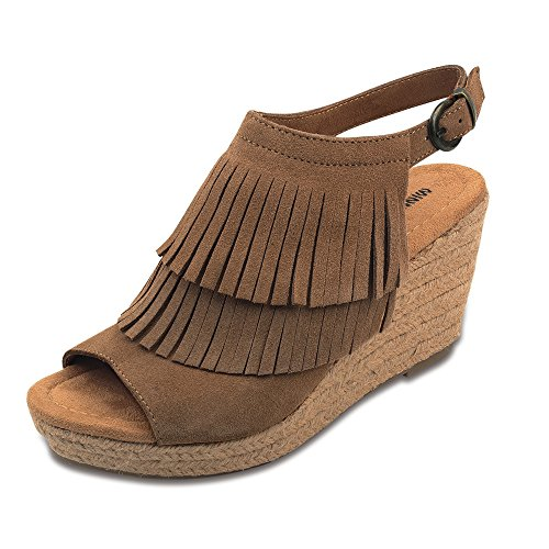 Minnetonka, Ashley Femme, Nu-Pied Marron EU38