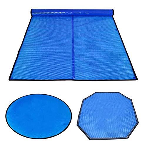 HH- Solarabdeckung Rechteckige Solar-Poolabdeckung mit Ösen, Dicke Solarfolien-Pool-Heizdecke für Boden- und Oberboden, Blau (Size : 2m× 2m(6ft×6ft))