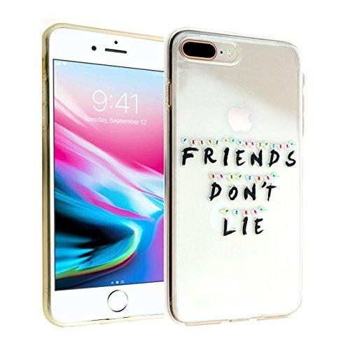 CASEMPIRE iPhone 7 Plus, 8 Plus Stranger Friends Don't Lie Durable TPU Case Shock Proof Never Fade Slim Fit Cover - Friends Don't Lie IP 7 Plus 8 Plus TPU
