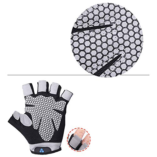 Jinjin Men Women Yoga Fitness Gloves Weight-Lifting Workout Crossfit Gloves Rowing, Power-Lifting, Pull Up Callus-Guard Gym Barehand Grip Gloves for Spring Short Bike Ride
