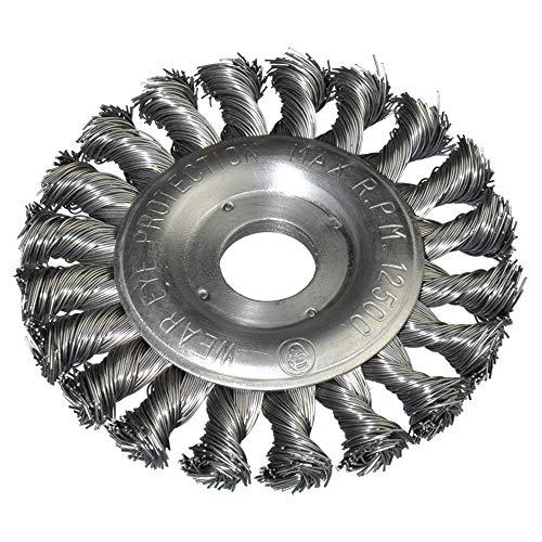 Scheibenbürste 115mm Durchmesser gezopft für Winkelschleifer 22,2mm Bohrung Drahtbürste Kegelbürste