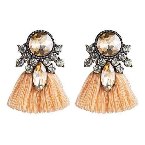 Vvff Pendientes De Joyería Pendientes De Borla De Fiesta Popular Con Diamantes De Imitación Exagerados Para Mujeres
