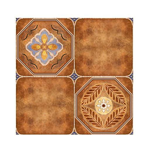 YFAX, Peel and Stick Backsplash Azulejos, para Piso/Pared/de Cocina/Chimenea, cáscara de Cocina, Autoadhesivo, a Prueba de Agua, Estilo mediterráneo (1 Hoja, 60 * 120 cm)-A