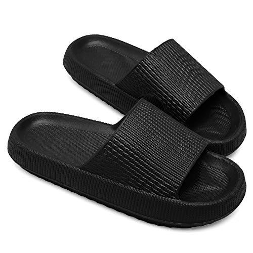 Pillow Slippers for Women Men Platform Home Bathroom Spa Massage Foam Shower Slide Sandals 7-8 M US Women