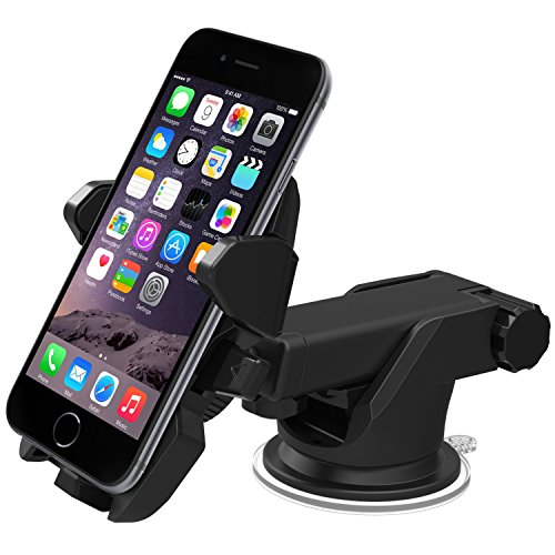 Price comparison product image iOttie Easy One Touch 2 Car Mount Holder Cradle for iPhone 5s / 5c / 4s,  Samsung Galaxy S5 / S4 / S3,  Note 3 / 2,  Google Nexus 5 / 4 LG G3 - Frustration-Free Packaging - Black