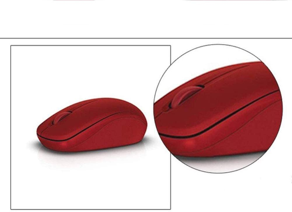 red Home Business USB Wireless Mouse Ergonomics 1PCS Mouse 2.4G Optical Wireless Mouse