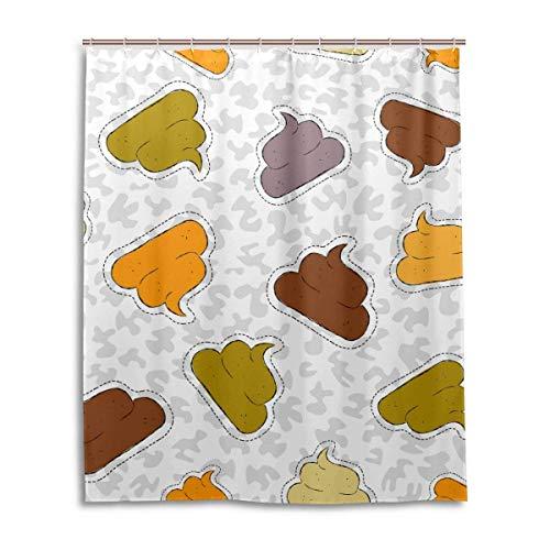 remmber me Iconos de Caca Cortina de Ducha de Camuflaje Gris y Blanco de Colores Decoración de baño Impermeable Juegos de Cortinas de Tela de poliéster con Ganchos 60x72 Pulgadas