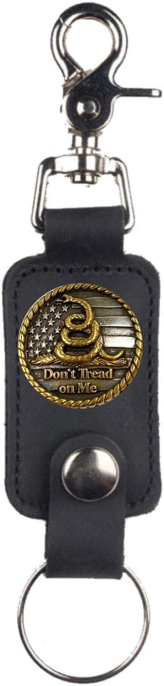 Custom NEW U. S. Don't Tread On Me Mascorro Leather Valet Key Fob Black