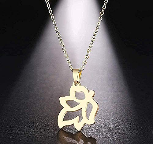 AKDLKXTS Necklace Stainless Steel Necklace Delicate Maple Leaf Pendant Necklace Jewelry