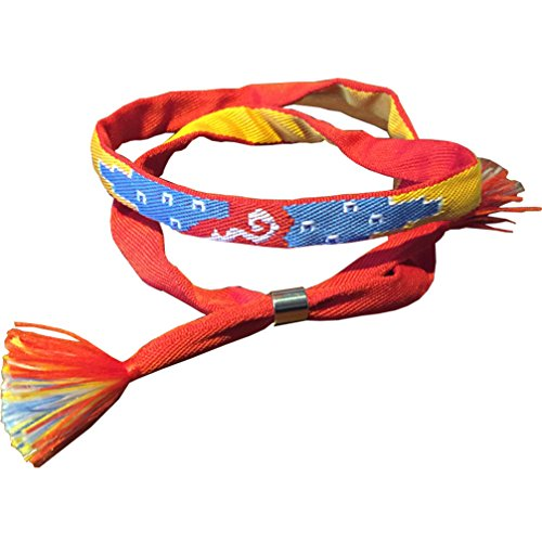 Yesui Cosplay Kumihimo Small Four Colors of The Handicraft of Bracelet Ribbon of Hair Lucky Charm