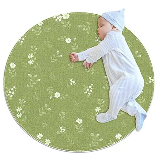 Tappetino da gioco per bambini, rotondo, per bambini, portatile, con motivo cachemire, colore: verde
