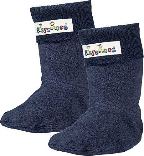 Playshoes Mädchen Fleece-Stiefel Socken, Blau Marine, 34/35 EU