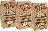 com-four 1,5 kg Räucherspäne und -Chips - 100% natürlich - Mix Pack aus Räucherchips und Räucherspänen für Smoker-, Kugel-, Stand- und Gas-Grill (Apfel|Erle|Kirsche)