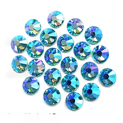 Impresionante calidad inusual!Multi colores crystal SS12-SS30 Non Hot Fix Rhinestone uñas de espalda plana brillos piedra de la ropa