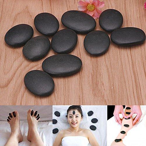 Alicer 7 Stücke Professionelle Massagesteine,Massagesteine,Massage Lava Naturheilstein Set Hot Spa Rock Basalt Stein,Massagetherapie