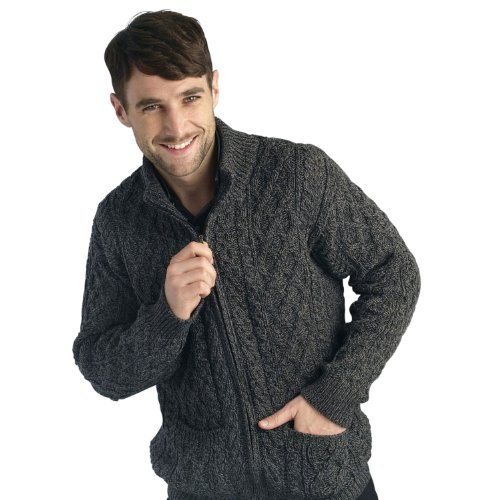 Men's Wool Full Zip Sweater
