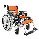 ALYR Lega di alluminio Sedia A Rotelle Pieghevole, sedia a rotelle manuale portatile per a...