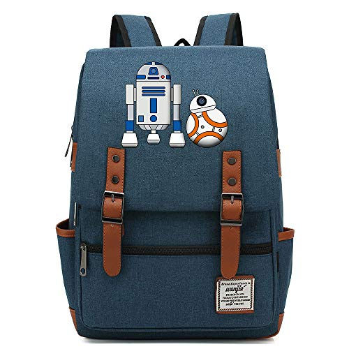 Teenager Outdoor Travel University Backpack, Fits Laptop Tablet, Star Bb-8 Wars Backpack, Boy/Girl Weekend Bag 16 inch. Style-19.