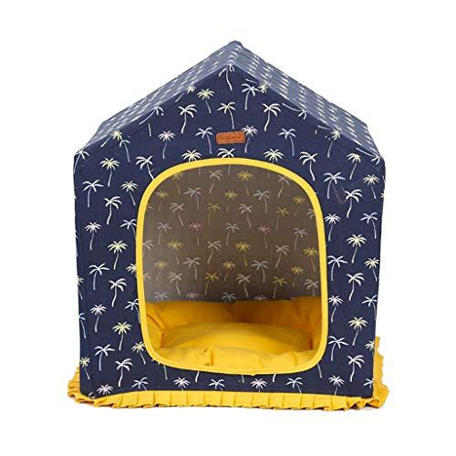 perfk Cama para Dormir para Mascotas Lavable para Mascotas de Interior, Cómoda Y Acogedora Cama Nido para Mascotas, Gatos Y Perros