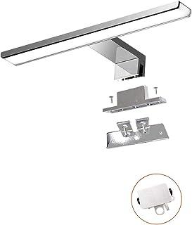 Lampe Miroir Salle de Bain 7W 500LM 30cm 230V 4000K,IP44 Imperméable Classe II en Acier Inoxydable 3 en 1 Miroir Lumineux ...