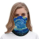 PotteLove The Starry Night Painting by Vincent Van Gogh Unisex Multifunctional Bandana Neck Gaiter Tube Headwear headkerchief, Motorcycle Face Mask Bandana Headband for Women Men Face Scarf