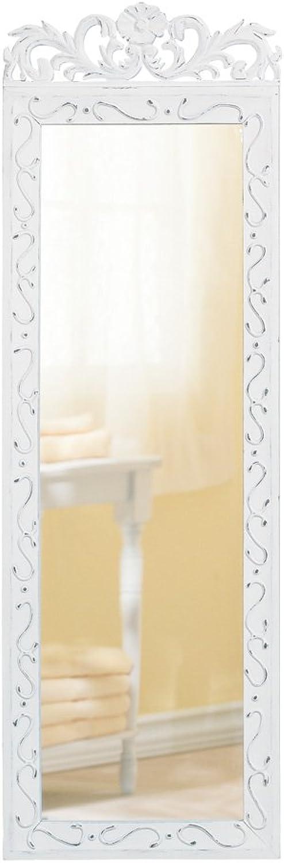 Elegant White Wall Mirror - 1 Unit
