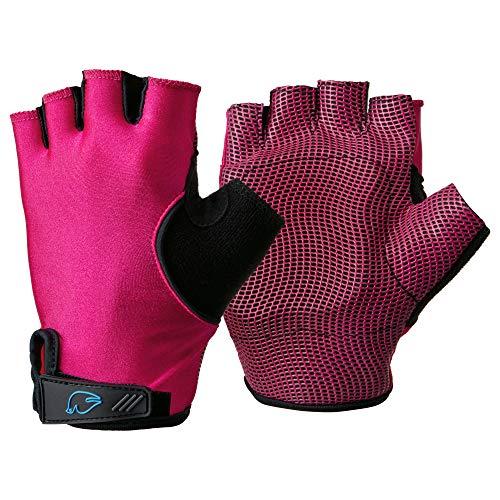 Blue Dove Yoga-Handschuhe, gepolstert, rutschfest, zur Linderung von Schmerzen im Handgelenk, Unisex, Hot Pink - Low wrist strap, Größe S