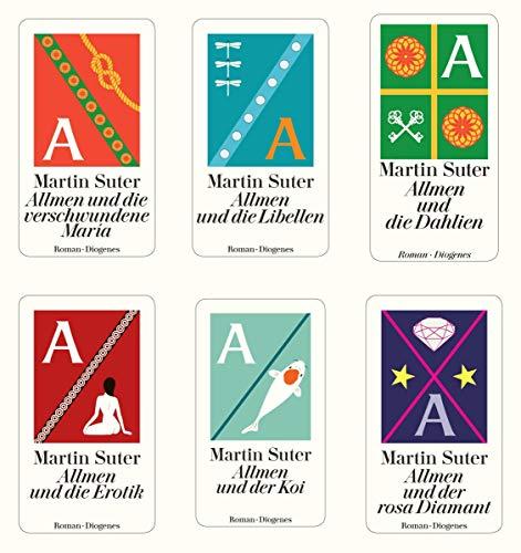 6 Allmen Krimis Martin Suter + 1 exklusives Postkartenset