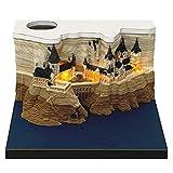 VOUNEDA Wohnkultur 3D Burgdekoration DIY Hogwarts Schloss