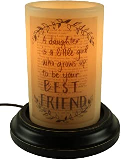 CR Designs Daughter Friend Candle Sleeve with Black Round Candle Base