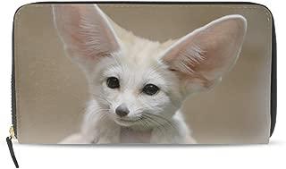 Women Zipper Wristlet Wallet Face Ears Hair Wildlife Caracal Clutch Purse Phone Credit Card
