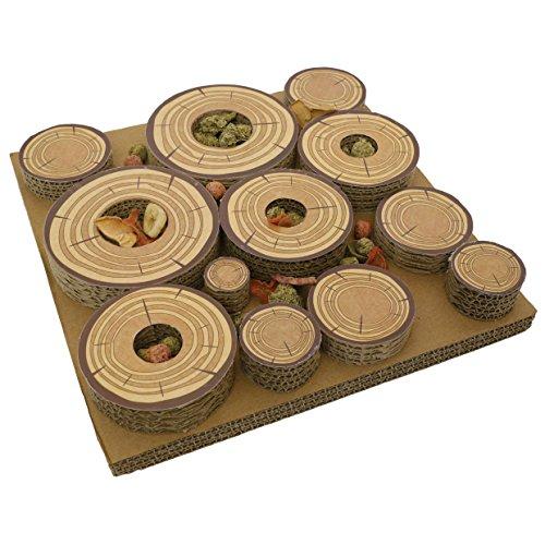 Rosewood Maze-a-Log Intelligenzspielzeug für Kaninchen / Meerschweinchen mit Leckerli-Versteck