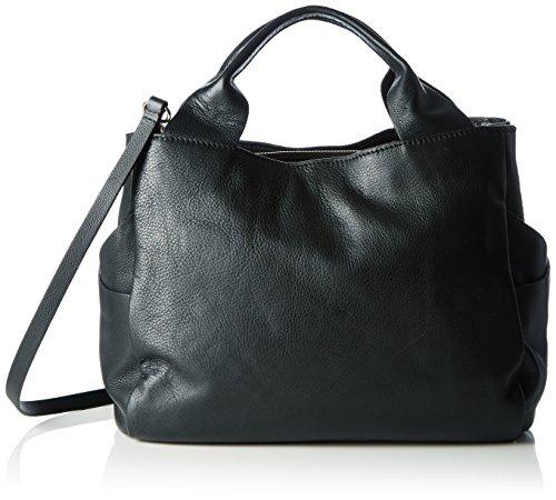 Clarks Talara Star, Borsa con Maniglia Donna, Nero (Black Leather), 17x32x26 Centimeters (B x H x T)