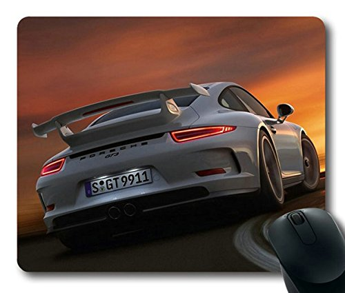 Popular Mouse Pad with porsche 911 gt3 auto car cars turn Non-Slip Neoprene Rubber Standard Size 9 Inch(220mm) X 7 Inch(180mm) X 1/8 Inch(3mm) Mousepads by Popular Art Mouse Pad