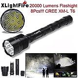 Iuhan XLightFire 20000 Lumens 10x XML T6 5 Mode 18650 Super Bright LED