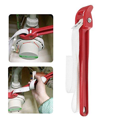 Correa de filtro de aceite de 30,48 cm, longitud de 82 cm, mango de 30 cm, llave inglesa (82 x 30 cm), color rojo