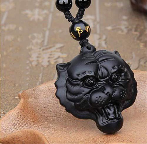 VAWAA Collar con Colgante de Piedra Natural, Collar de Cuero Ajustable de Cuarzo Rosa, joyería Simple única para Mujer, joyería para Hombre y Mujer