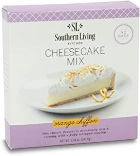 Gourmet Cheesecake Mix – No Bake Cheesecake Cake Mix – Orange Chiffon Cheesecake by Southern Living – Rich, Creamy, Moist and Fluffy Whipped Topping