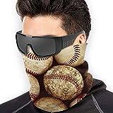 Old Vintage Baseball Sport Neck Gaiter Warmer Winter Hairband Ear Warmer Headband for Men Women Balaclava Bandanas Black