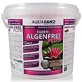 AQUASAN Gartenteich ALGOLESS Faden-Algenfrei Plus (Beseitigt schnell und stoppt Fadenalgen im Teich. Der Fadenalgen-Entferner, Fadenalgen-Vernichter, Fadenalgen-Mittel), Inhalt:5 kg