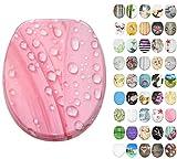 WC Sitz mit Absenkautomatik, große Auswahl, schöne Motive, hochwertige und stabile Qualität aus Holz (Pink Flower)
